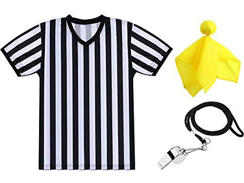 SATINIOR Men's Official Uniform Black and White Stripe Pro-Style...