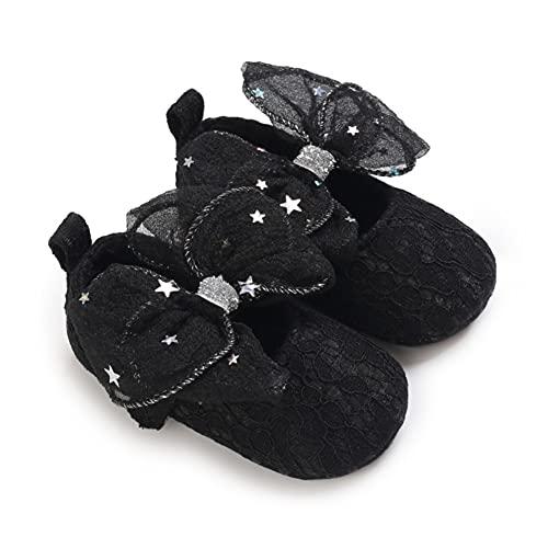 Bebé Niñas Arco Zapatos de la Princesa Suela Suave Antideslizante Prewalkers Zapatos...