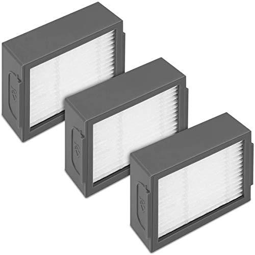 Home Spare Parts - Accessoires Compatibles pour iRobot Roomba e5 - i7 - i7 Plus, kit 3 filtres iRobot, HEPA | Pièces de rechange maison | Accessoires iRobot i7, aspirateur sans fil