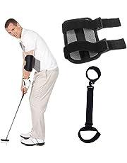 Smavles Entrenador Codo Golf 2 Piezas Entrenador de Swing de Golf Swing Golf Trainer Aids Cinturón de Corrección de Pierna de Golf para la Corrección de la Postura de Golf