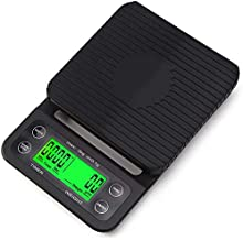 OBAST Coffee Scale with Timer, Electronic Kitchen Cooking Scale Mini Food Scale with Back-Lit LCD Display Digital Kitchen ...