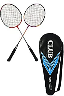 Dixon Club Badminton Racket With Cover Pair, Racket Set