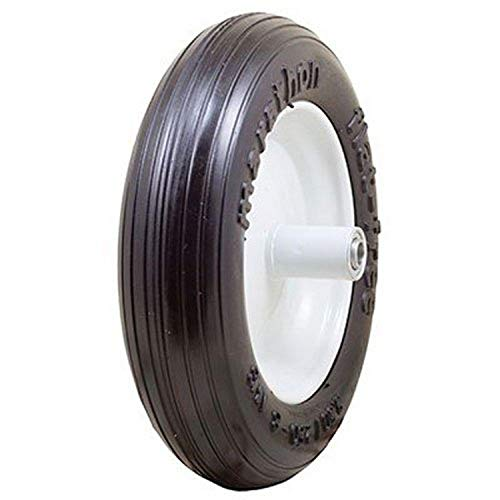 "Marathon 3.50/2.50-8"" Flat Free Tire on Wheel, 6"" Hub, 5/8"" Bearings"