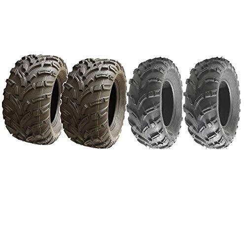 Quad Neumáticos 4-25X8-12 y 25X11-12 6ply E marcado carretera legal ATV extra ancho
