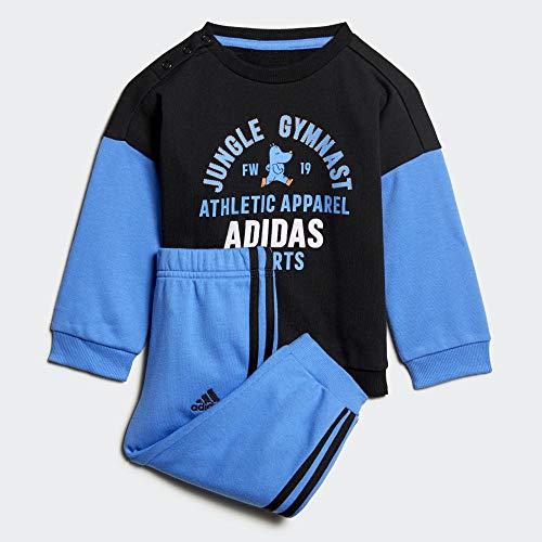 adidas I Graph Jog Ft Trainingsanzug, Unisex M Schwarz / Königsblau