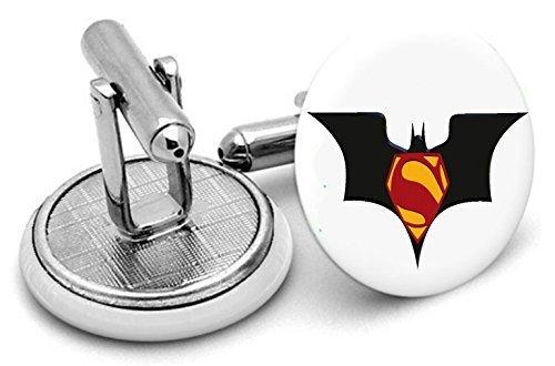Bat Man – Superman – Boutons de manchette – Livré dans pochette cadeau