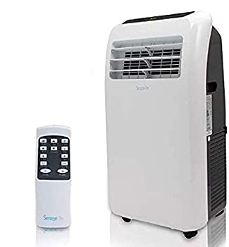 Portable Electric Air Conditioner Unit - 1150W 10000 BTU Power Plug In AC Indoor Room Conditioning System w/ Cooler Dehumidifier Fan Exhaust Hose Window Seal Wheels Remote - SereneLife SLPAC10