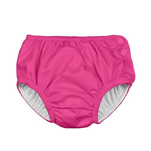 i play. 711200-200-43 Ultimative Schwimmwindel mit Druckknöpfen 12 Monate, solid, hot pink