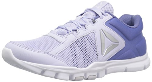 Reebok Women's Yourflex Trainette 9.0 MT Track Shoe, Lilac Shadow/Lucid Lilac/White, 8 M US