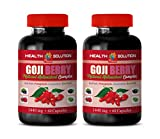 Weight Loss Appetite suppressant Pills - Goji Berry - Natural ANTIOXIDANT Complex - Pomegranate Vitamin e for Skin - 2 Bottles 120 Capsules