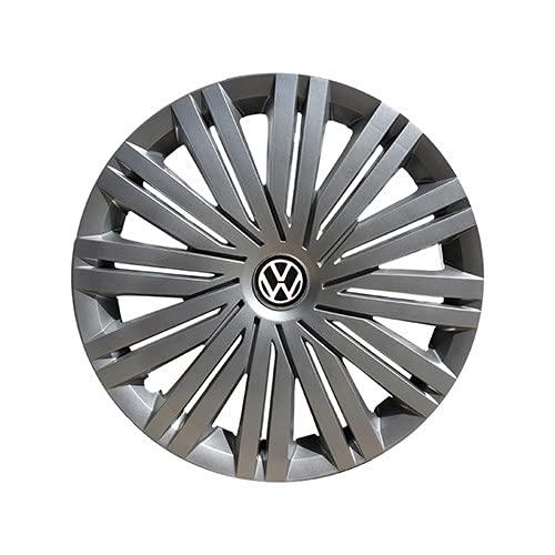 Tapas De Cubo De Centro De Rueda tapas de cubo ce 4 PCs compatibles con VW Volkswagen Polo de 14'pulgadas ABS CUBIERTO DE CUCTURA DE CUCHO DE CUCHO DE CUBIERTAS DE LA RUEDA ACCESORIOS DE COCHES Logot