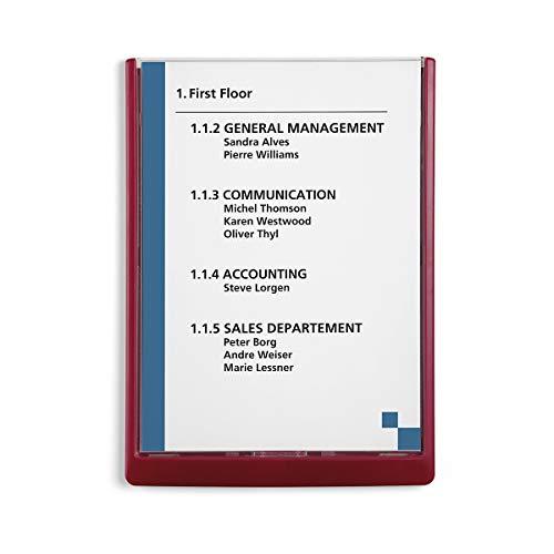Durable Infoschild - HxBxT 325 x 235 x 15 mm, VE 5 Stk - rot - Infodisplay Infodisplays Infotafel Plakattafel Plakattafeln