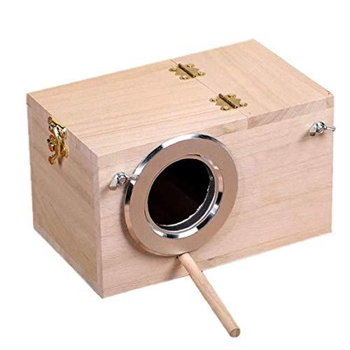 arrot Zucht Nistkasten Vogelnest Warm Vogel Incubator Holz Sittich Wellensittich Birds Cockatiel Zucht Nesting Bird Cage Box 29 * 15 * 15cm