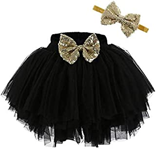 Easter Pink Bow Bunny Head Shirt Gold Sequin Baby Pettiskirt Outfit Set 3-12m