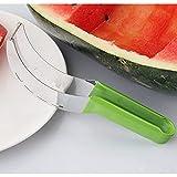 Shulcom Wassermelonenschneider Verdickter Silikongriff Edelstahl Obstschneider Messer Messer...