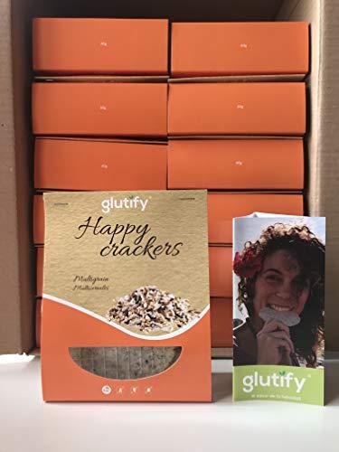 Glutify Crackers Tostis orgánicos de Trigo Sarraceno con multicereales 60g (22 unidades)|100% Natural, sin gluten, sin OGM
