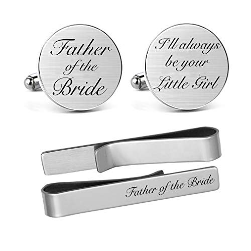 Sentimental father of the bride gifts cuff links