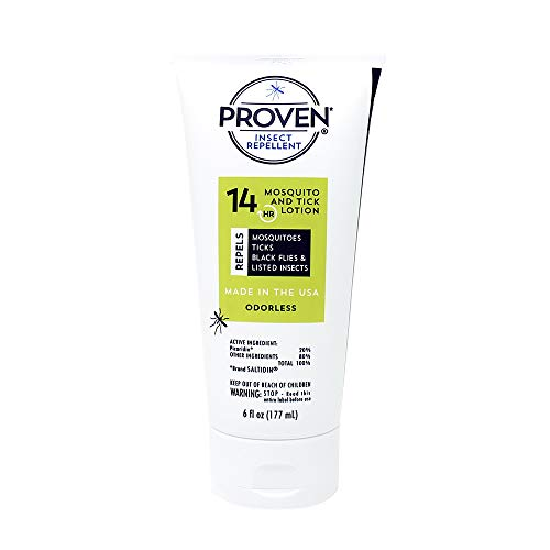 Proven Insect Repellent Lotion – Protects Against Mosquitoes, Ticks and Flies - Odorless, 6 oz.