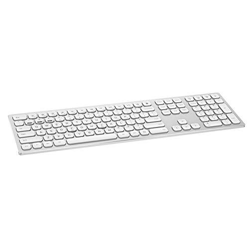 109 toetsen Aluminium behuizing Draadloos toetsenbord Multimedia Dempen toetsenbord met houten houder Toetsenbord Beschermende filmontvanger, voor computer, telefoontablet(Goud)