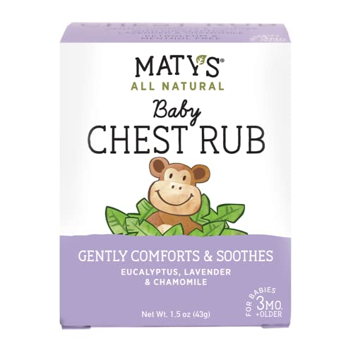 Maty's All Natural Baby Chest Rub - Petroleum Free - Made with Soothing Lavender and Chamomile - 1.5 oz.