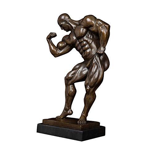 ZAQWSXCDE Statuen Und Skulpturen Skulptur Figur Statuen Dekoration Bronze Nackte Bodybuilder Statue Figuren Für Home Desk Dekoration