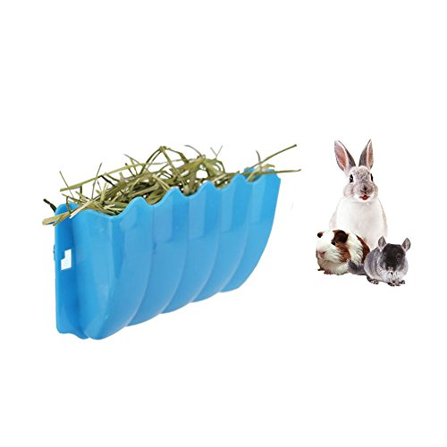 Amakunft Guinea Pigs Hanging Hay Feeder Rack, Rabbit Mess-Free Alfalfa Dispenser, Manger Rack Wall-Mounted for Small Animal, Rabbit, Guinea Pig, galesaur, Ferret