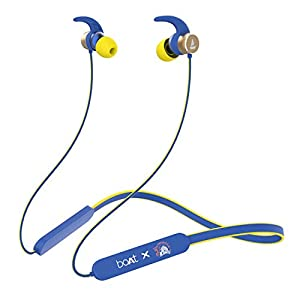 boAt Rockerz 255 Chennai Super Kings Edition in-Ear Earphones with 8 Hours Battery, IPX5, Bluetooth V5.0 and Voice…