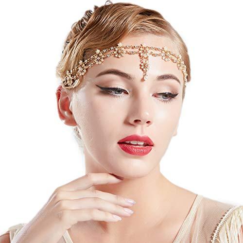 Coucoland 1920s Hoofdband voor dames, gatsby accessoires, retro hoofdketting, jaren 20, haarband, hoofdtooi voor carnaval, kostuum