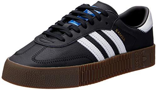 Adidas Sambarose, Zapatillas Clasicas para Mujer, Negro (Core Black/Cloud White/Gum5), 38 2/3 EU