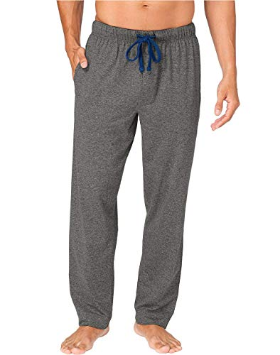 Hanes X-Temp Men's Jersey Pant with ComfortSoft Waistband (Large, Charcoal Heather)