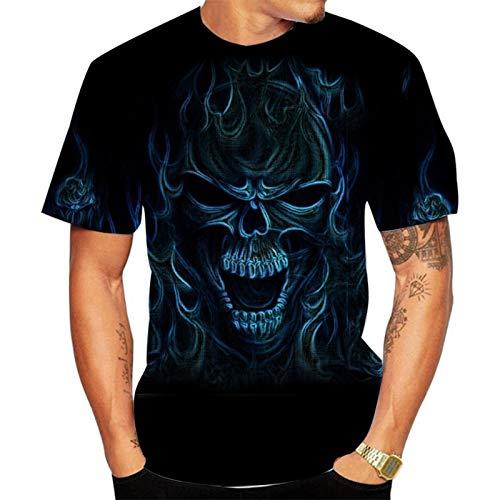 SSBZYES Camiseta para Hombre Camiseta De Verano De Manga Corta para Hombre Camiseta De Cuello Redondo para Hombre Camiseta con Estampado De Calavera Camiseta De Gran Tamaño para Hombre