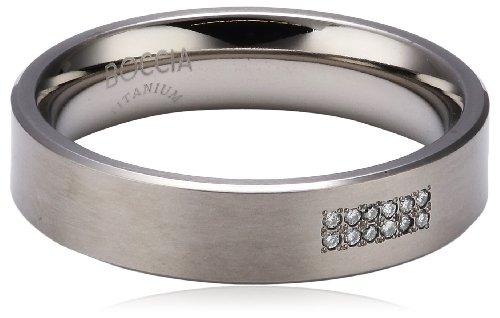 Boccia Damen-Ring Titan 12 Brillianten 0,06 Gr.56 0101-1856