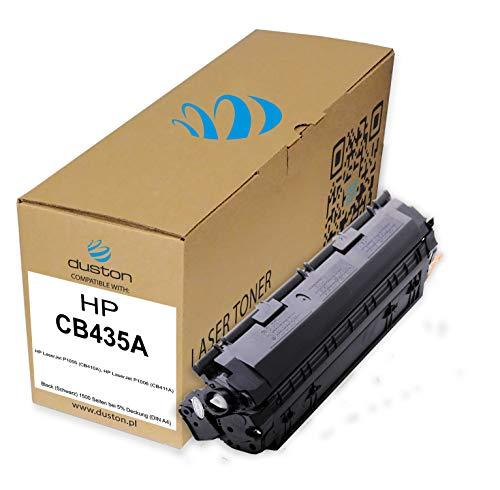 CB435A, 35A Toner negro regenerado Duston compatible con impresoras HP Laserjet P1005 P1006