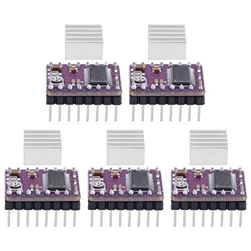 Módulo de controlador de motor paso a paso, 5 piezas, placa PCB Reprap de 4 capas, soporte de controlador de motor paso a paso StepStick DRV8825, accesorios de impresora 3D