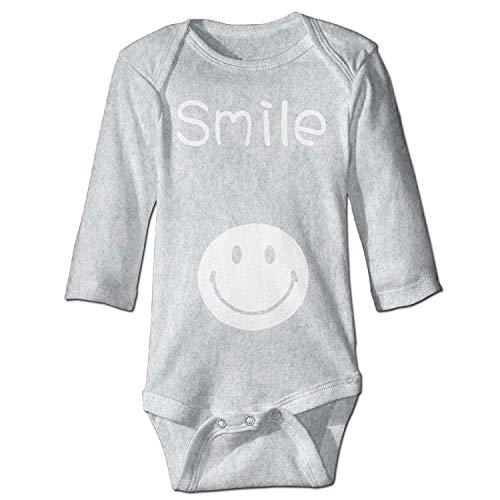 Unisex Newborn Bodysuits Smile Baby Babysuit Long Sleeve Jumpsuit Sunsuit Outfit Ash
