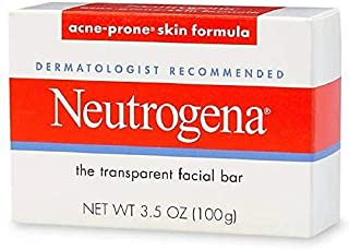 Neutrogena Transparent Facial Bar Soap Fragrance Free 3.5 oz (100 g)