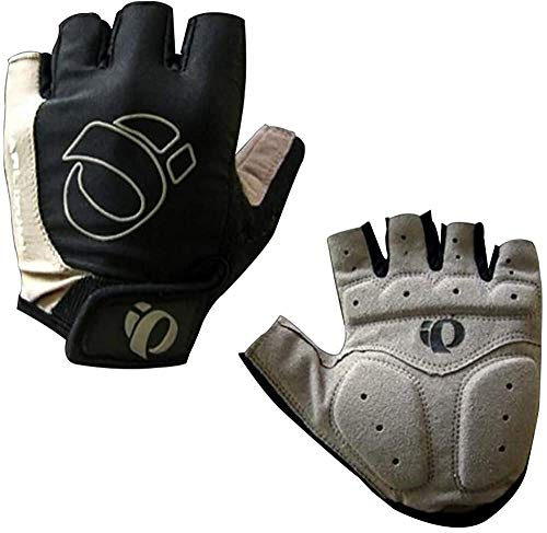 Guantes de media dedo, guantes cortos, guantes de patinaje de rodillos, guantes de equitación, guantes de ciclismo unisex medio dedo a medio dedo guantes de bicicleta ajustables transpirable almohadil