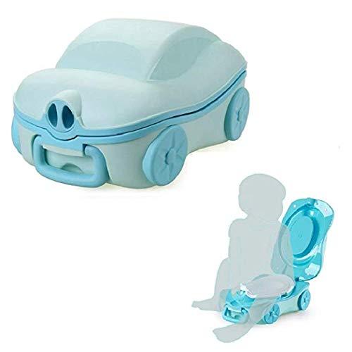 Reise-Töpfchen für Kinder, tragbar, für Reisen, Toilettentraining, Urinal-Autos, tragbares Urinal-Training Einheitsgröße himmelblau