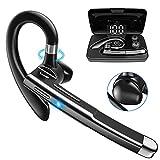 PNSSL Bluetooth Headset V5.1 aptX HD Bluetooth Kopfhörer mit Ladefach und Batterieanzeige Wasserdicht Kabellos Bluetooth Ohrhörer mit Mikrofon CVC 8.0 für iPhone Xiaomi LG Samsung Sony HTC Huawei