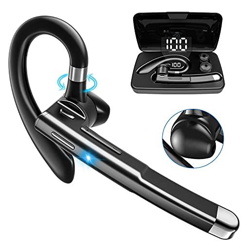 PNSSL Auricolare Bluetooth V5.1 Auricolare Mani Libere Cuffia Bluetooth con Scatola di Ricarica, Tecnologia Clear Voice Capture CVC8.0, Auricolare Mono per iPhone Huawei Samsung Sony