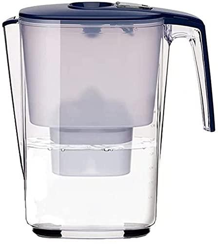 GDYJP Jarra de Filtro de Agua   Jarra de Filtro de Agua 3.6L con un Mango Extra Extra   Rendimiento de la filtración más Alta   Filtro de Agua de Cartucho de Filtro Multicapa (Color : Blue)
