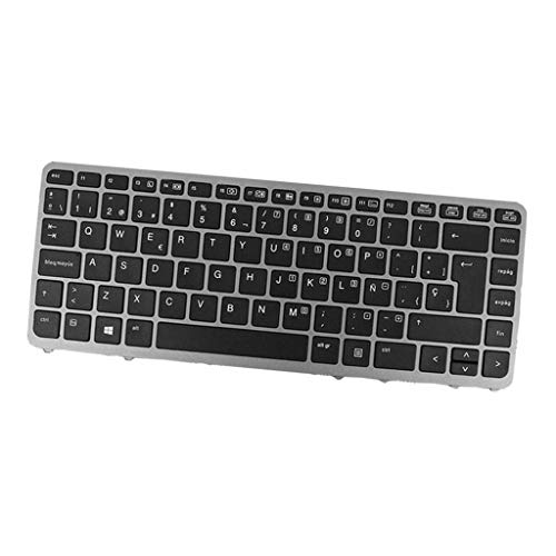 H HILABEES PC Laptop Teclado Teclado Enter-Key Frame Retroiluminado para HP Elitebook 840 G2