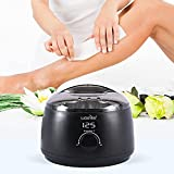 waxkiss Wax Warmer, Digital Wax Warmer for Professional Hair Removal with See-Through Lid and 14oz Pot