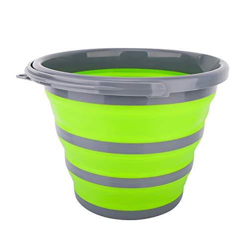 Housolution 10L Cubo de Agua Plegable de Material Ecológico PP para Fregar,...