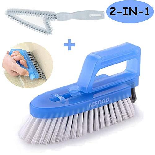 Cepillo para Limpieza de Juntas Desmontable - Cepillo Para Baños, Cocinas y Hogar - Limpia a Fondo las Juntas de las Baldosas y Azulejos y Elimina el Moho Superficial, 3 Cepillos Incluidos (Azul)
