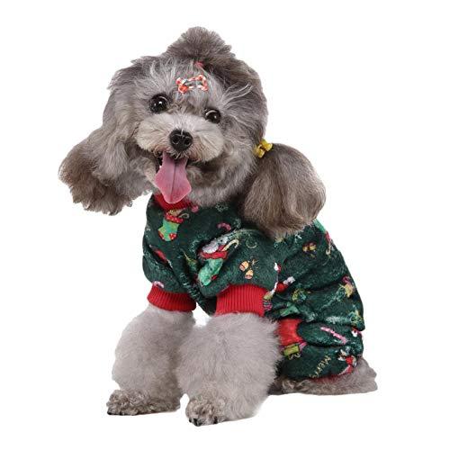 wenhe Disfraz de Navidad para gatos, mascotas, ropa de invierno para cachorros