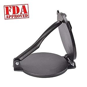 "ARC USA, 0020, 6.5 inch Cast Iron Tortilla Press, Press surface diameter, Heavy Duty, Even Pressing - FDA Passed Black (6 1/2"")"