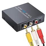 HDMI a RCA 1080p Adaptador HDMI a AV 3RCA CVBS Adaptador Convertidor de Audio y Video Compuesto PAL/NTSC con Cable de Audio y Video 1.5m para PC Laptop Wii PS3 STB VHS VCR Cámera DVD