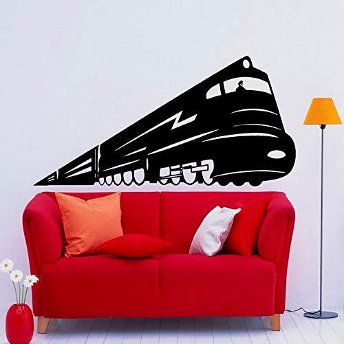 WERWN Tren Pegatinas de Pared estación Puertas y Ventanas Creativas Pegatinas de Vinilo Dormitorio de niños guardería decoración de Interiores Papel Tapiz