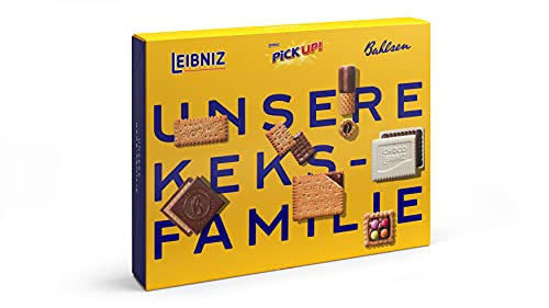 Bahlsen Unsere Keksfamilie - 1er Pack - Keksmischung mit 7 knackigen Kekssorten (1 x 280 g)